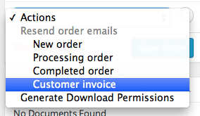 WooCommerce Order Actions